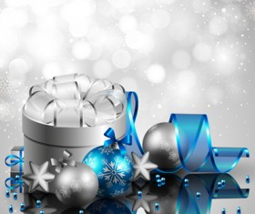 Shiny Xmas decorations design vector 06