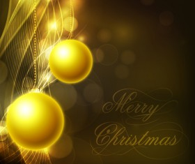 Shiny Xmas decorations design vector 08