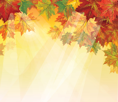Pretty Autumn backgrounds art vector 03