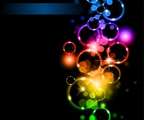 Dream Background with light effects design vector 04