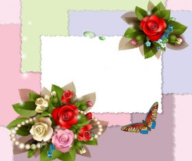 Vector Background with flowers design elements 02