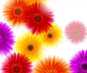 Vector Background with flowers design elements 03