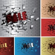 Link toBrick wall object backgrounds vector graphics 03