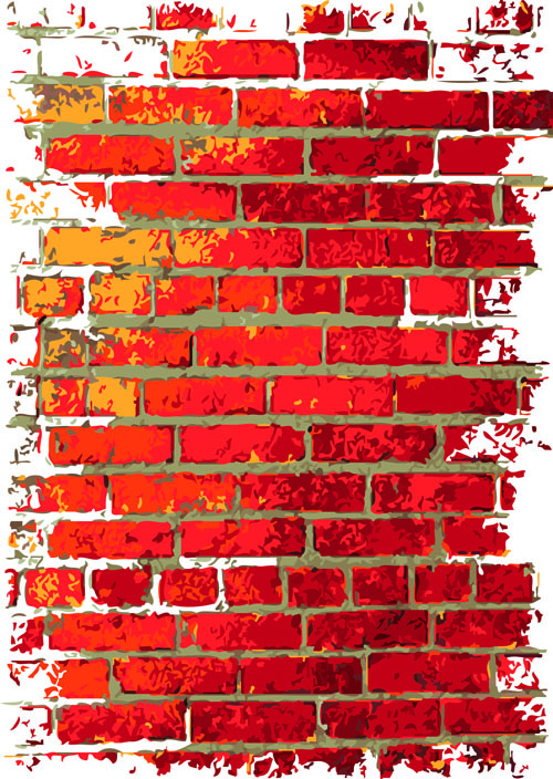 Brick Wall Object Backgrounds Vector Graphics 04
