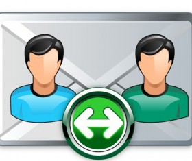 Email broadcast icon vector