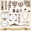 Vintage Royal ornaments design elements vector 02