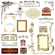 Link toVintage royal ornaments design elements vector 05