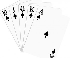 Different playing card vector graphic 01