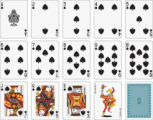 different playing card vector graphic 05 free download. Black Bedroom Furniture Sets. Home Design Ideas