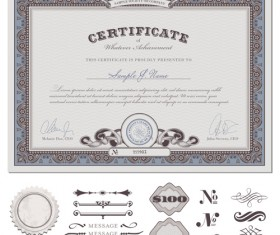 Vector Templates of certificates design set 02