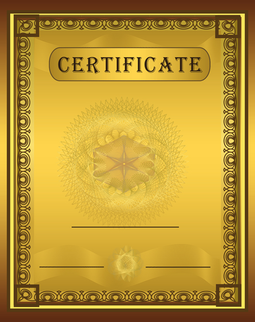 Vector Templates of certificates design set 03