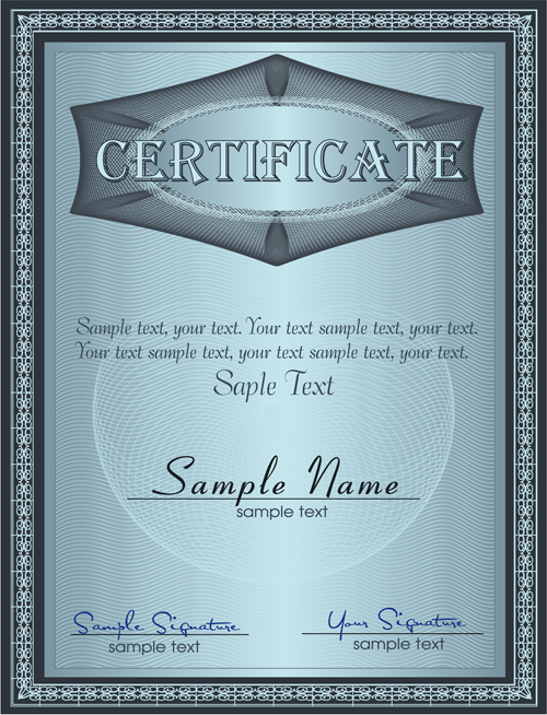 Vector Templates of certificates design set 04