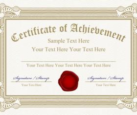 Vector Templates of certificates design set 05