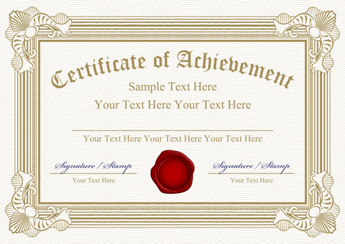 Vector Templates Of Certificates Design Set 05 Free Download