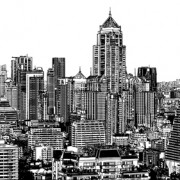 Link toDrawing city buildings and scenery vector 03