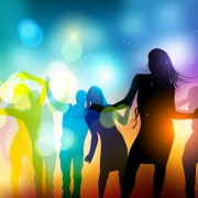Link toDancing people with party design vector set 04