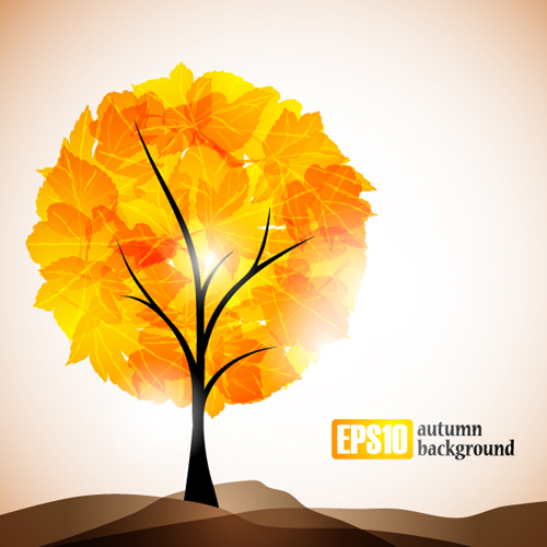 Set of leaf fall vector backgrounds vector 02