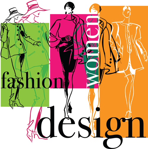 Elements Of Fashion Design : Hand drawn fashion design elements vector over