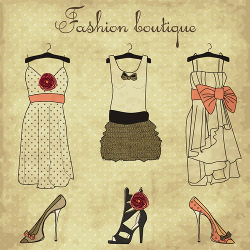 Hand Drawn Fashion Design Elements Vector 05 Free Download