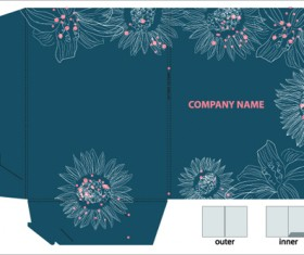 Elements of Plans gift box design vector 04