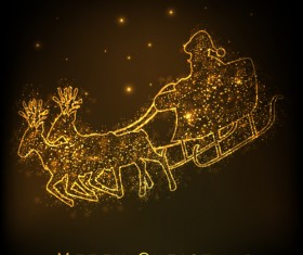 golden glow New Year 2013 design elements vector 02