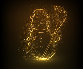 golden glow New Year 2013 design elements vector 04