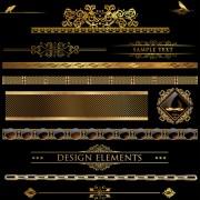 Link toSet of golden ornament borders design vector 02