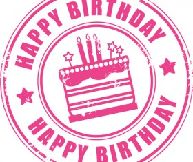 Best Happy birthday design elements vector set 01