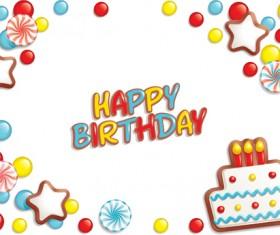 Best Happy birthday design elements vector set 02