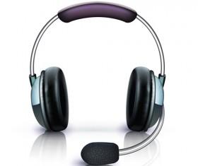 Elements of headphones vector set 03