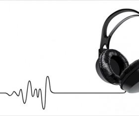 Elements of headphones vector set 05