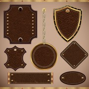 Link toVintage leather lables and tags vector set 01