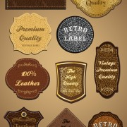 Link toVintage leather lables and tags vector set 03