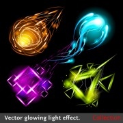Link toSet of sparkling light effects vector material 02