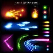 Link toSet of sparkling light effects vector material 05