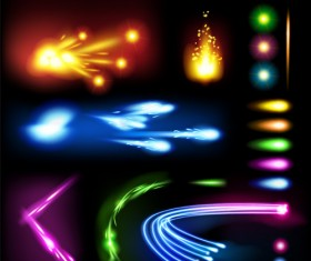 Set of Sparkling Light effects vector material 05