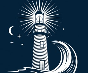 Set of Lighthouse vector material 01