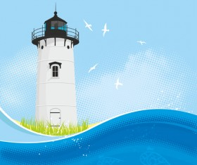 Set of Lighthouse vector material 02