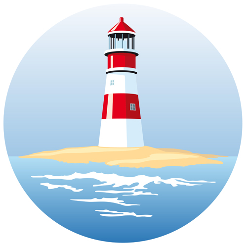 Set of Lighthouse vector material 03