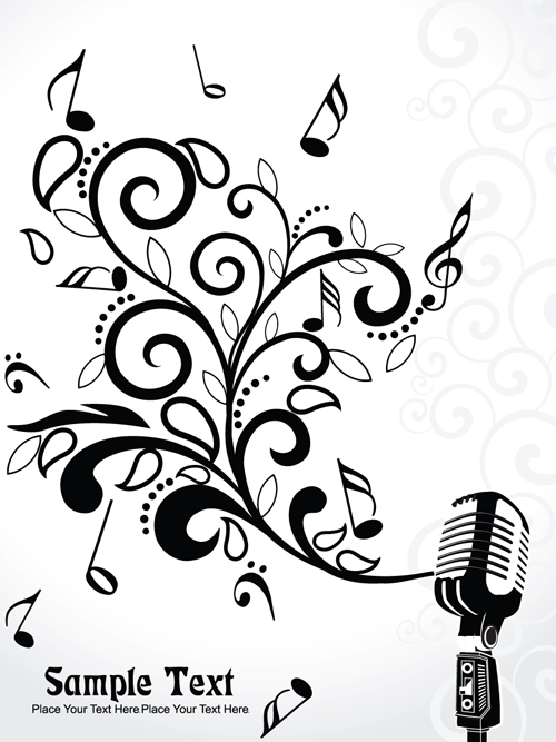 Stylish Music Illustration vector graphic 02 free download