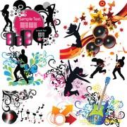 Link toStylish music illustration vector graphic 03