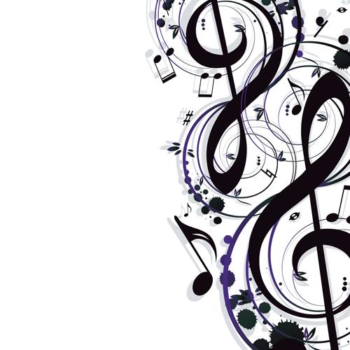 Stylish Music Illustration vector graphic 04