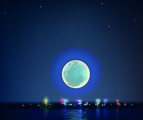Night the moon elements vector 03