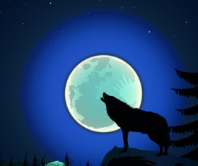 Night the moon elements vector 04