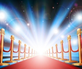 Ornate Red carpet backgrounds vector material 01