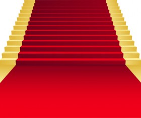 Ornate Red carpet backgrounds vector material 02