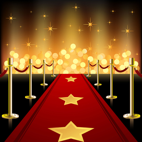ornate red carpet backgrounds vector material 04 free download