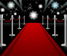 Ornate Red carpet backgrounds vector material 05