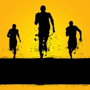 Link toSet of running elements people silhouette vector 01