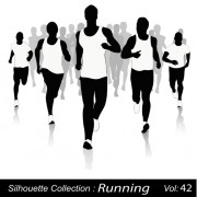 Link toSet of running elements people silhouette vector 03